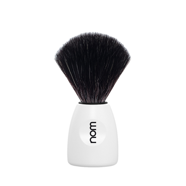 NOM Brocha de Afeitar Sintetica  21mm Blanca - The Shaving Mayoreo