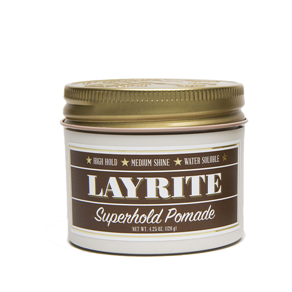 Layrite Pomada para Cabello Super Hold Pomade 4oz - The Shaving Mayoreo