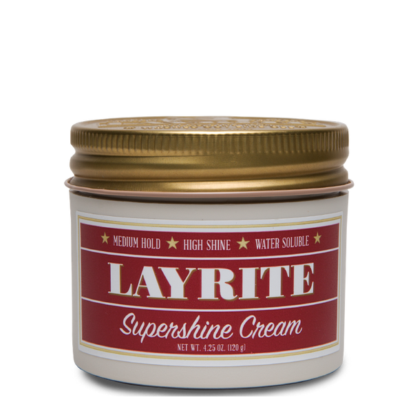 Layrite Pomada para Cabello Super Shine Cream 4oz - The Shaving Mayoreo