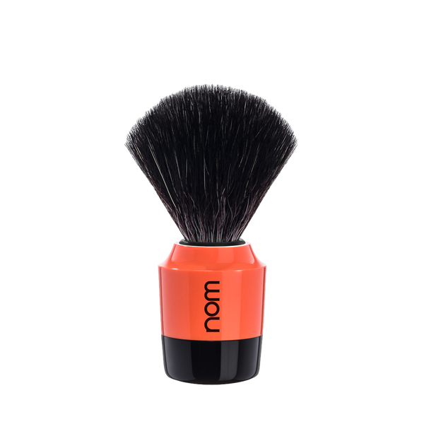 NOM Brocha de Afeitar Sintetica  21mm Naranja / Negro - The Shaving Mayoreo