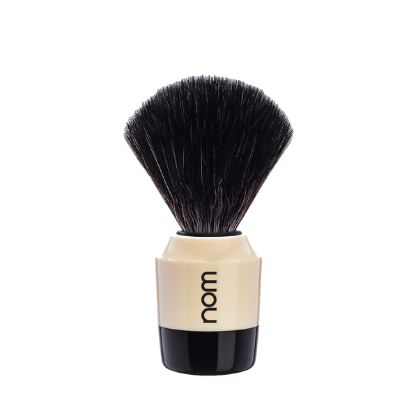 NOM Brocha de Afeitar Sintetica  21mm Crema / Negro - The Shaving Mayoreo