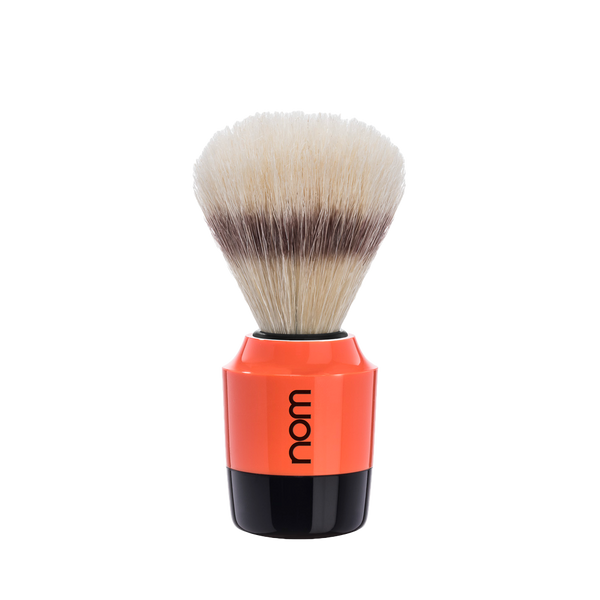 NOM Brocha de Afeitar Jabali 21mm Naranja / Negro - The Shaving Mayoreo