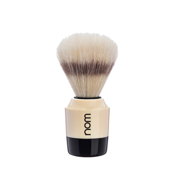 NOM Brocha de Afeitar Jabali 21mm Crema / Negro - The Shaving Mayoreo