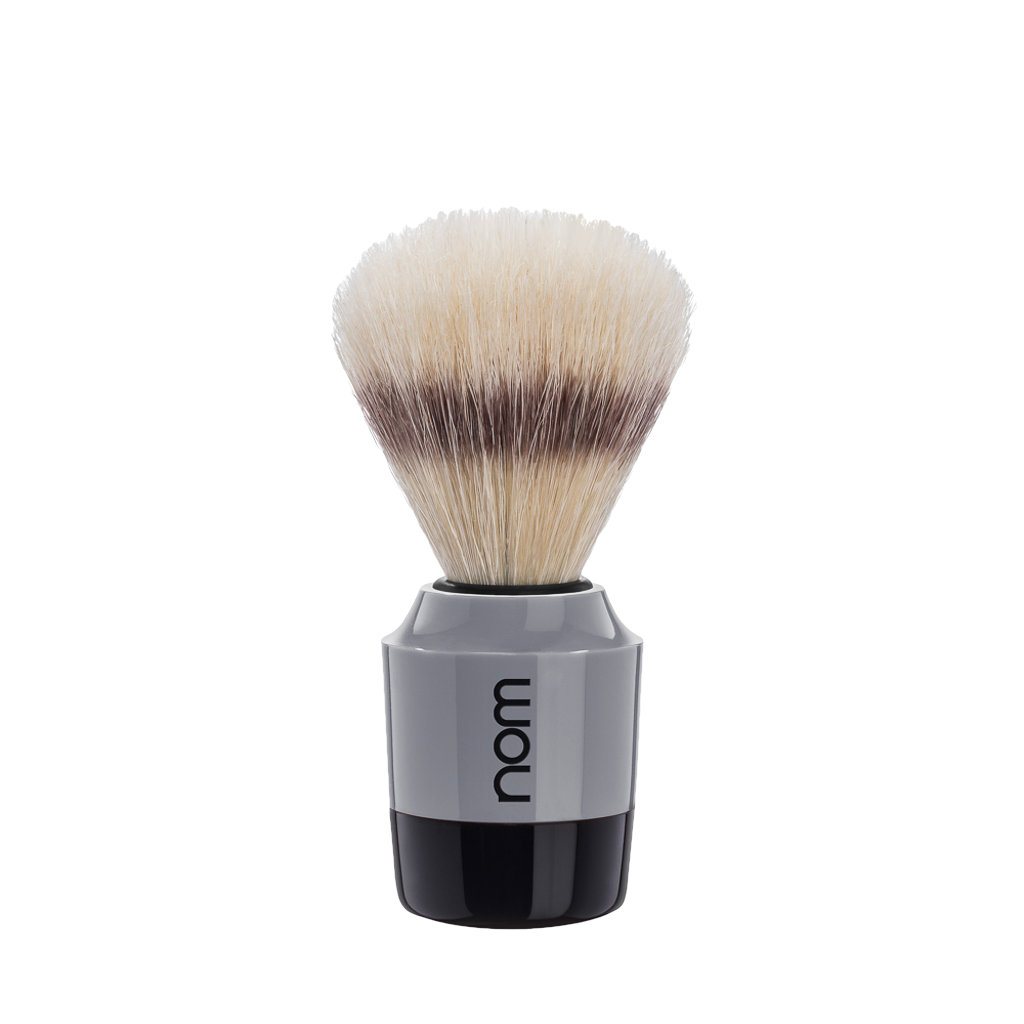 NOM Brocha de Afeitar Jabali 21mm Gris / Negro - The Shaving Mayoreo