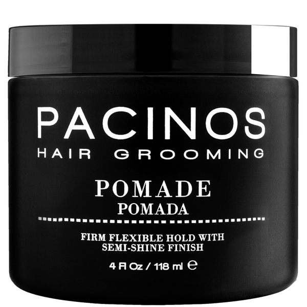 Pacinos Pomada para el Cabello Fijación Firme, Acabado Semi Brillante 4oz/118ml - The Shaving Mayoreo