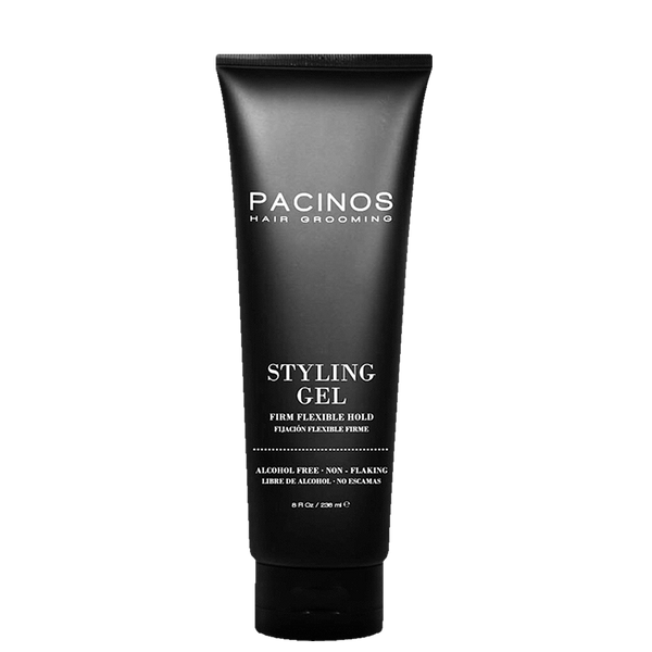 Pacinos Gel Estilizador para el Cabello Fijación Firme-Flexible 8oz/236ml - The Shaving Mayoreo