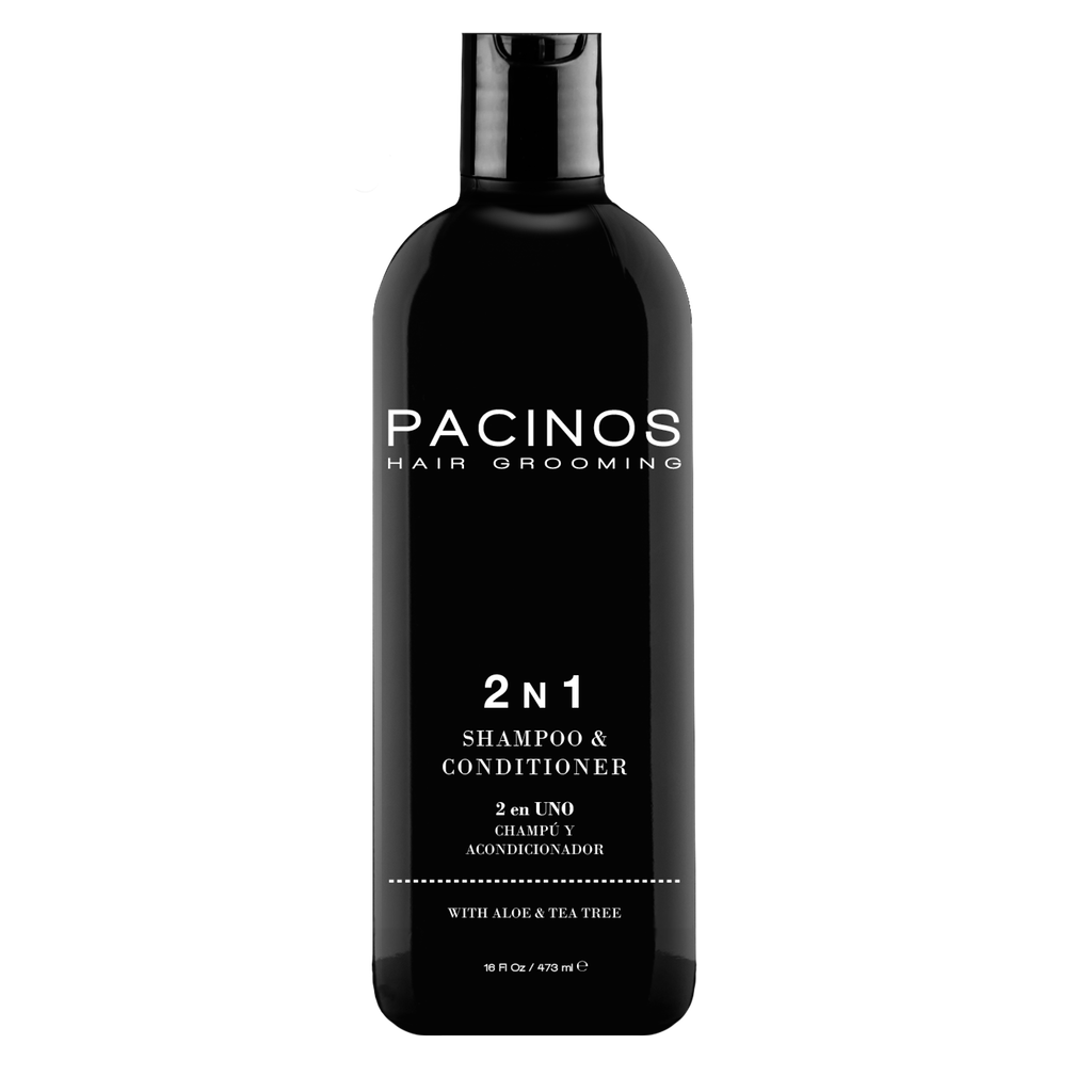 Pacinos Shampoo y Acondicionador 2 en 1, 16oz/473ml - The Shaving Mayoreo