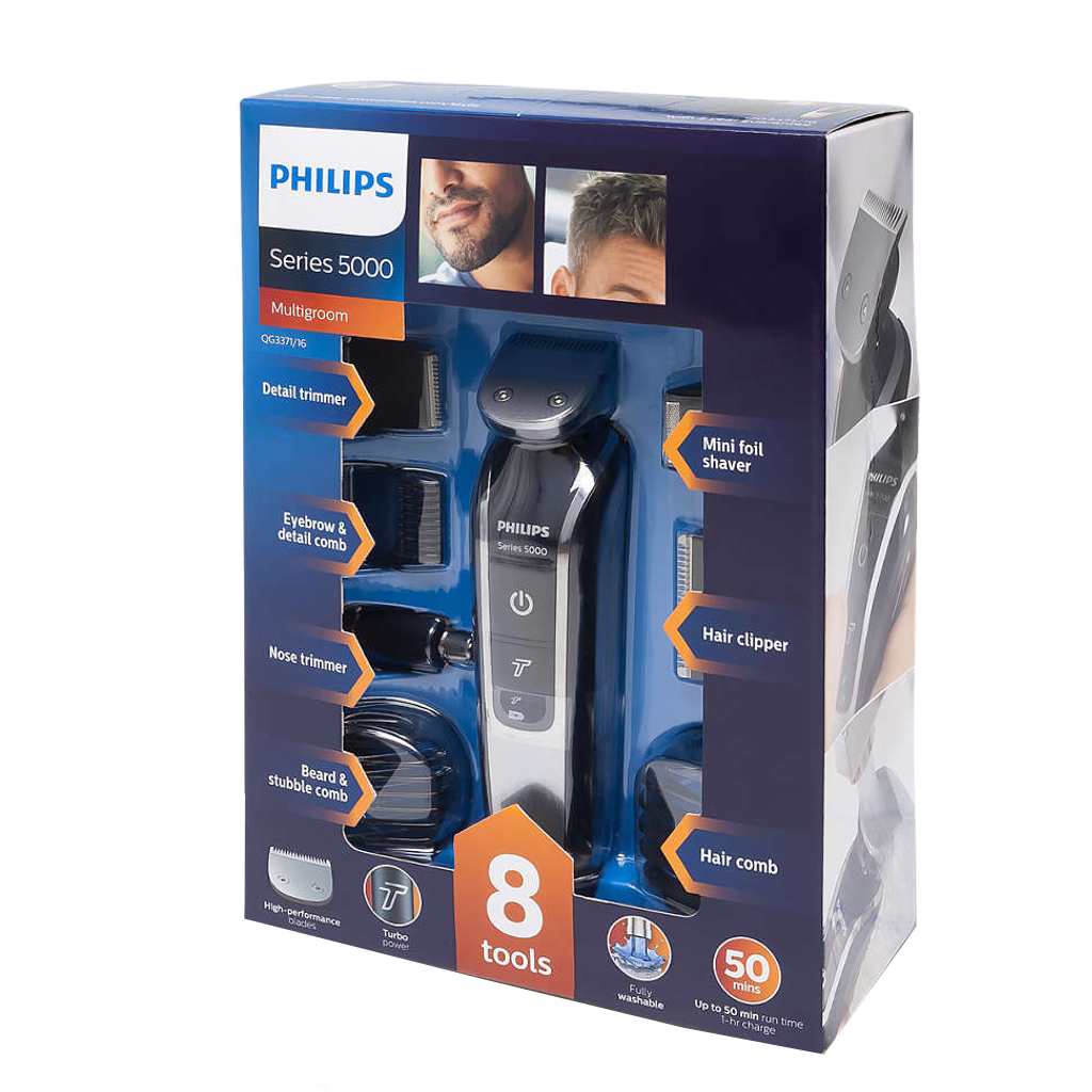 Philips Multigroom series 5000 Máquina para cortar cabello y barba 8 en 1 - The Shaving Mayoreo