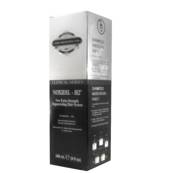 The Shaving Co. Shampoo Noxidil-H2 240ml - The Shaving Mayoreo
