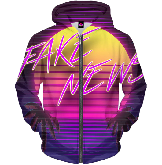 Fake News All Over Zip-Up
