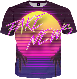 Fake News All Over T-Shirt Short Sleeve