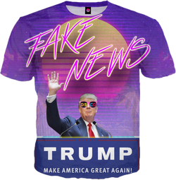 TrumpWave Is Against The Fake News All Over T-Shirt