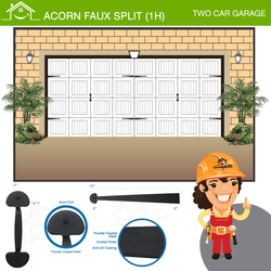 Acorn Faux Split (1H), Two Car Garage
