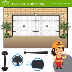 Acorn Faux Split (2H), Two Car Garage
