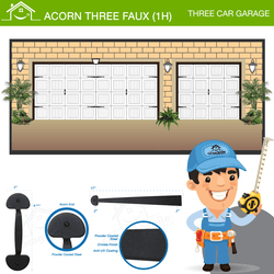 Acorn Three Car Faux (1H), Three Car Garage