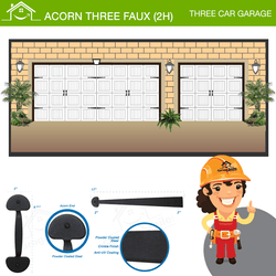 Acorn Three Car Faux (2H), Three Car Garage