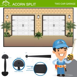 Acorn Split, Two Car Garage
