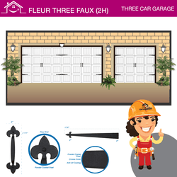 Fleur Three Car Faux (2H), Three Car Garage