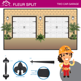 Fleur Split, Two Car Garage