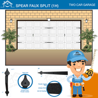 Spear Faux (1H), Two Car Garage