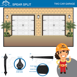 Spear Split, Two Car Garage