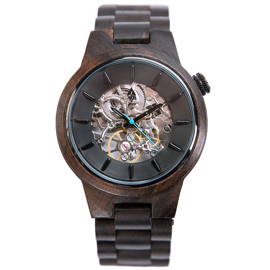 portfolio wood gadget watches grain original flow