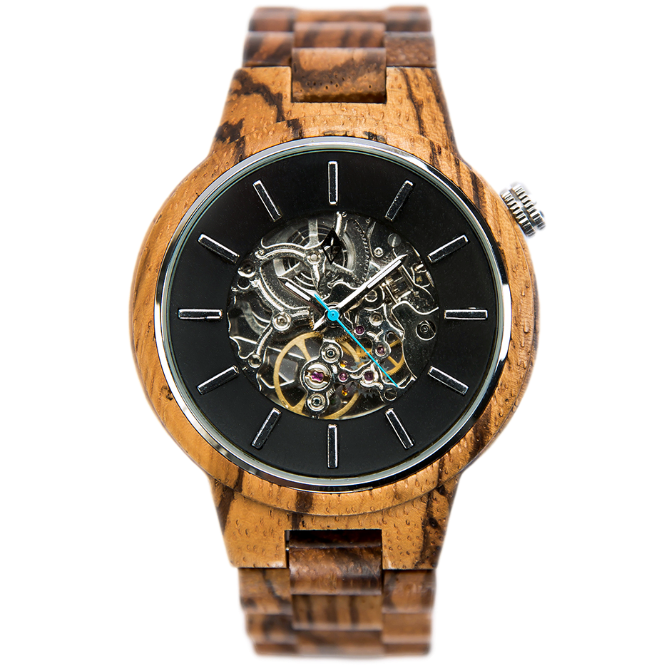 wood series zebrawood products in website watches black grain stardust automatic galaxy silver mm zebra final woodgrain