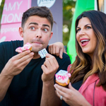 Jonathan Bennett with mean girls released cook book edible images on cupcakes