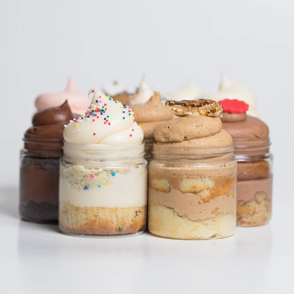 Vanilla Lovers Cupcake Jars Set of 4 - Dreamy Creations Cupcakes