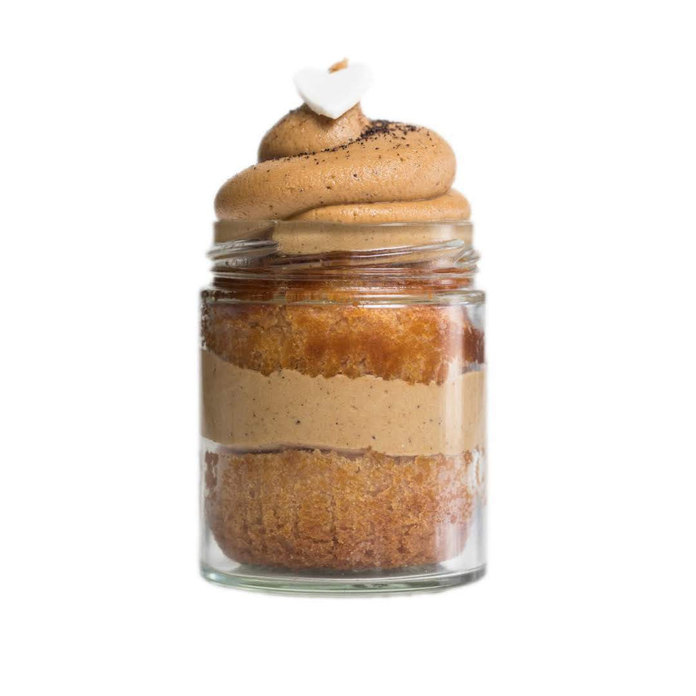 Load image into Gallery viewer, (GF | V) Cinnamon Dulce Latte Cupcake Jar - Dreamy Creations Cupcakes
