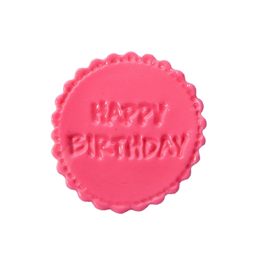 Happy Birthday Fondant Stamp - Dreamy Creations Cupcakes
