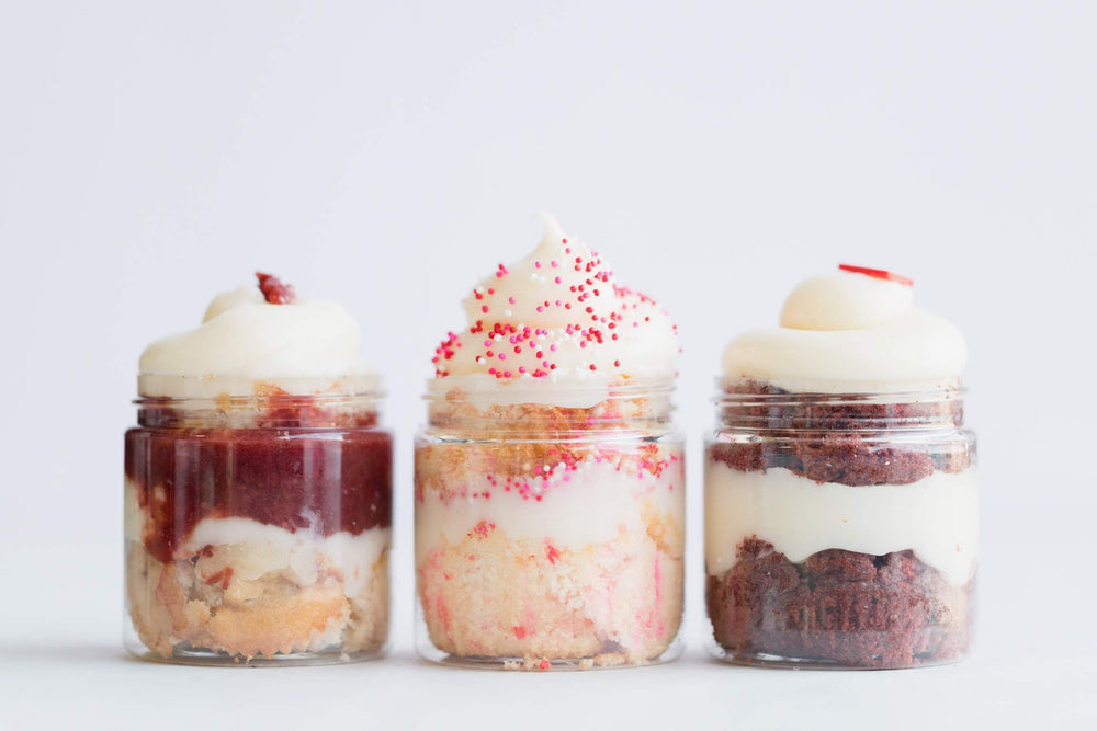 Strawberries & Cream Cupcake Jar - Dreamy Creations Cupcakes