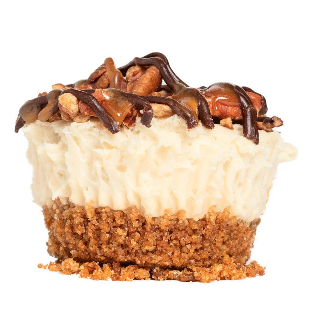 (GF | V) Turtle  Cheesecake - Dreamy Creations Cupcakes