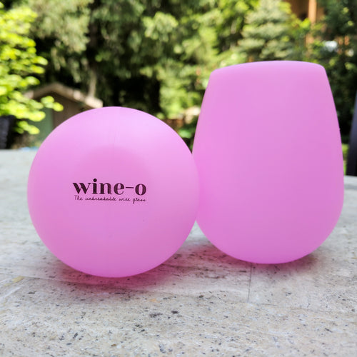 Unbreakable flexible silicone wine glasses