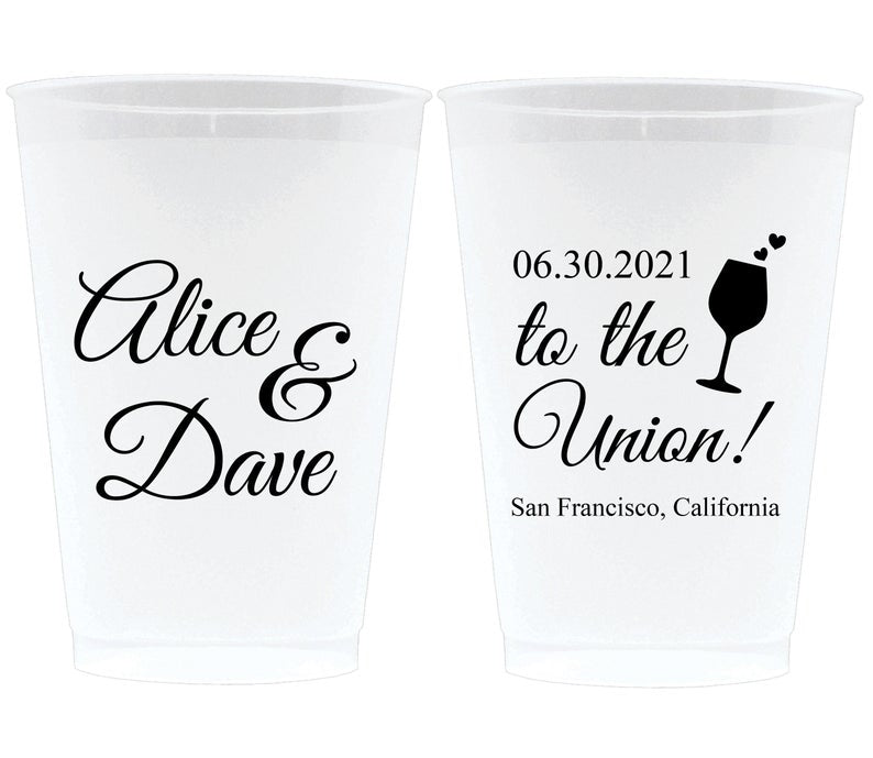 To The Union Wedding Frosted Cups (8)