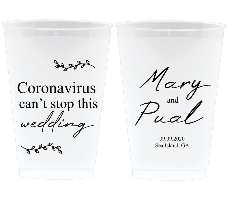 Corona Wedding Frosted Cups (6)