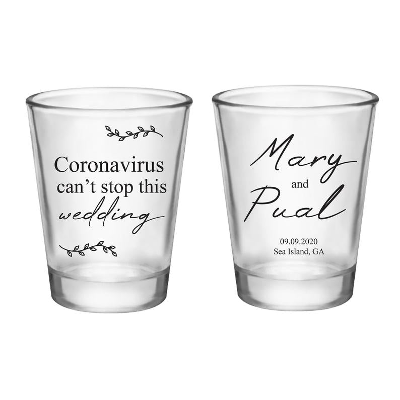 Corona Wedding Shot Glasses (6)