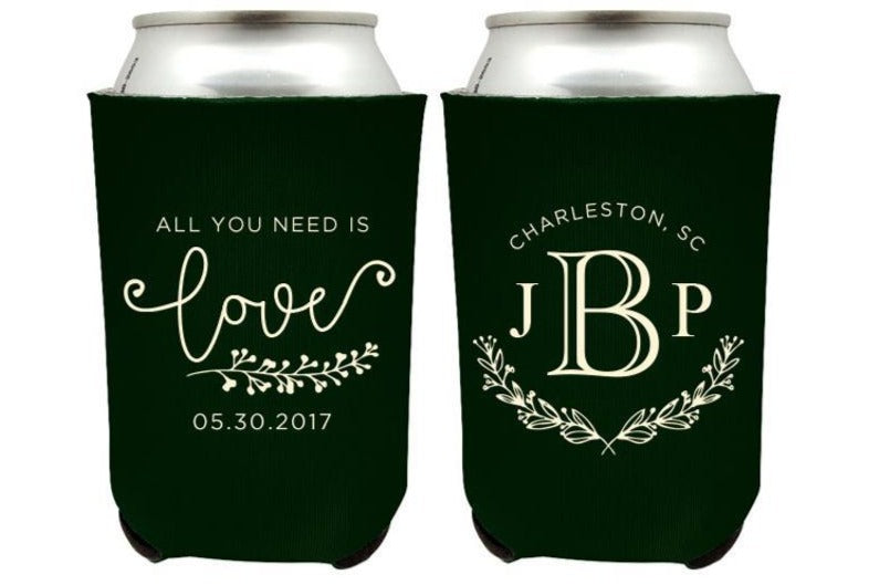Personalized Wedding Can Cooler (8)