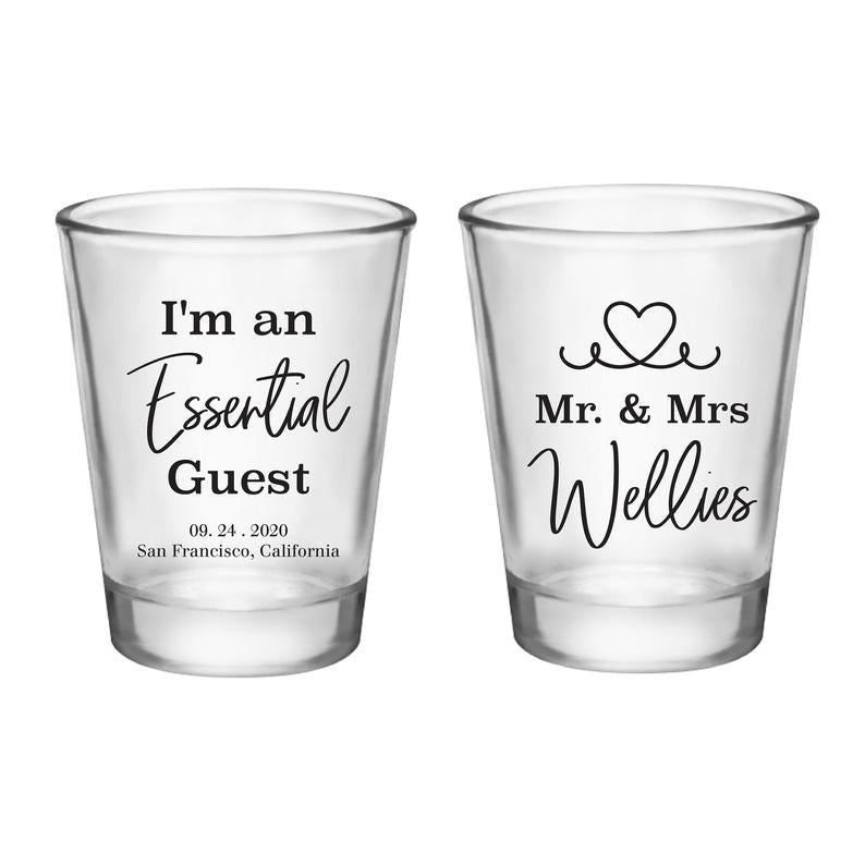 Essential Guests Wedding Shot Glasses (5)