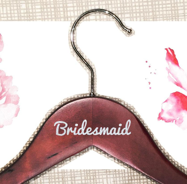 Personalized Cherry Wooden Hangers