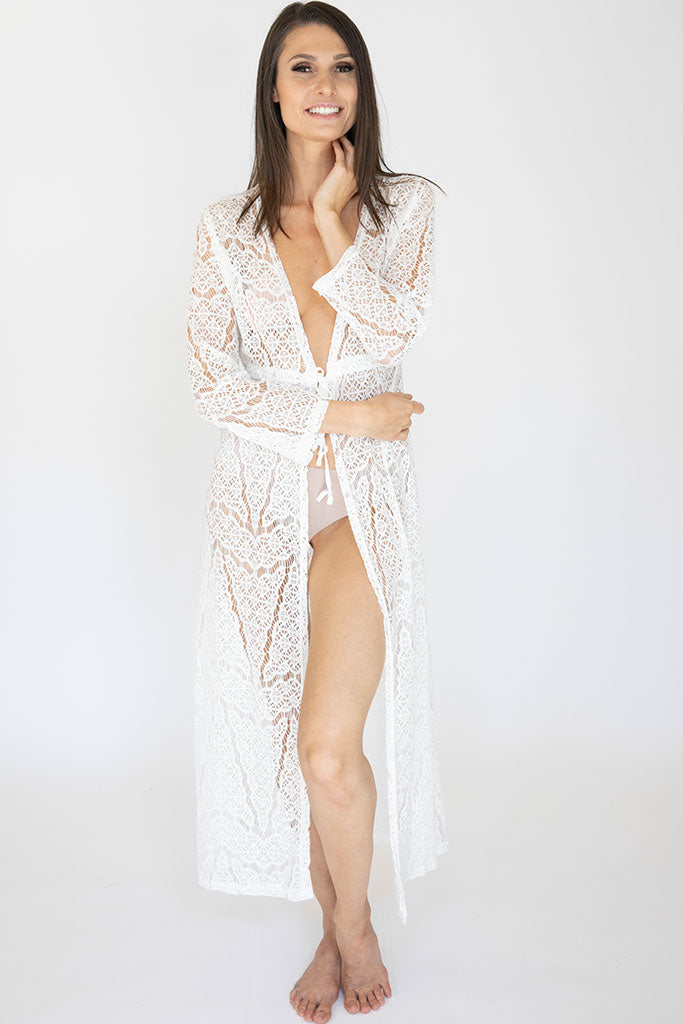 Long Lace Amelia Robe