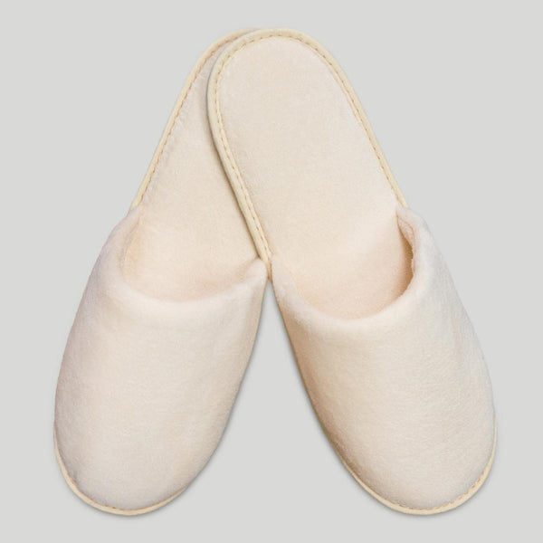 Beige Closed Toed Slipper