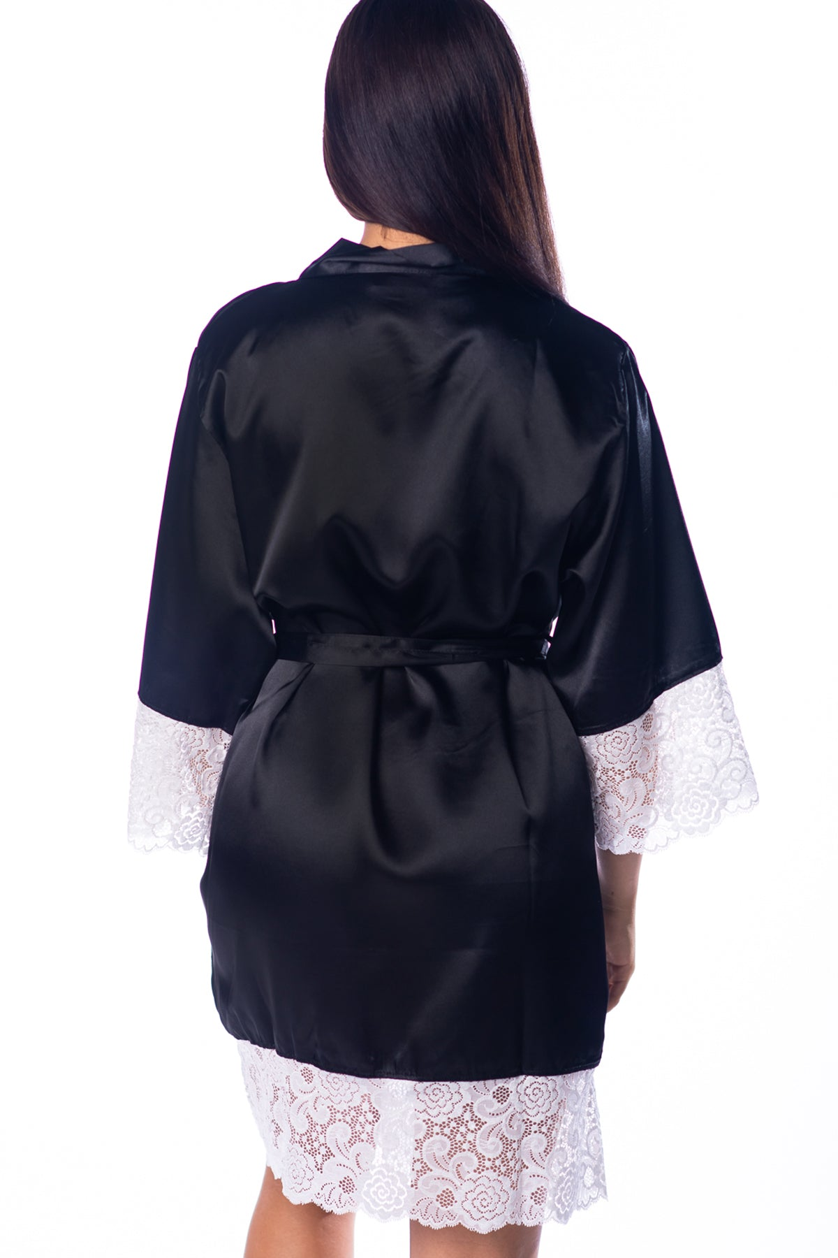 Black Lace Bridal Robe