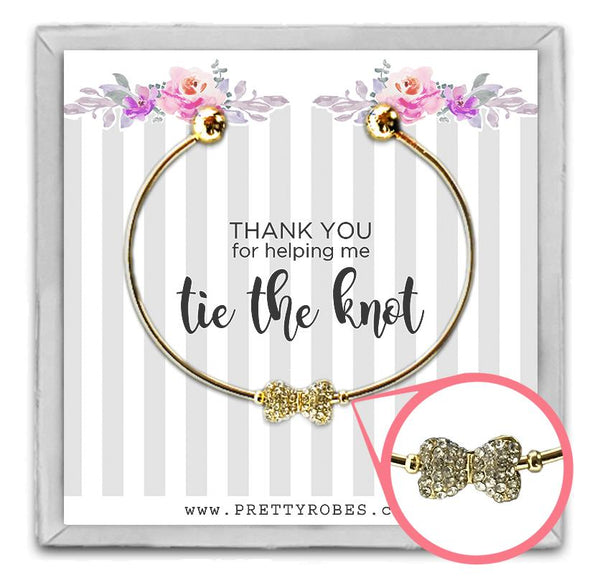 Bow Tie Bracelet - Gold - Design A