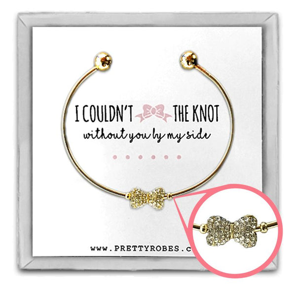 Bow Tie Bracelet - Gold - Design D