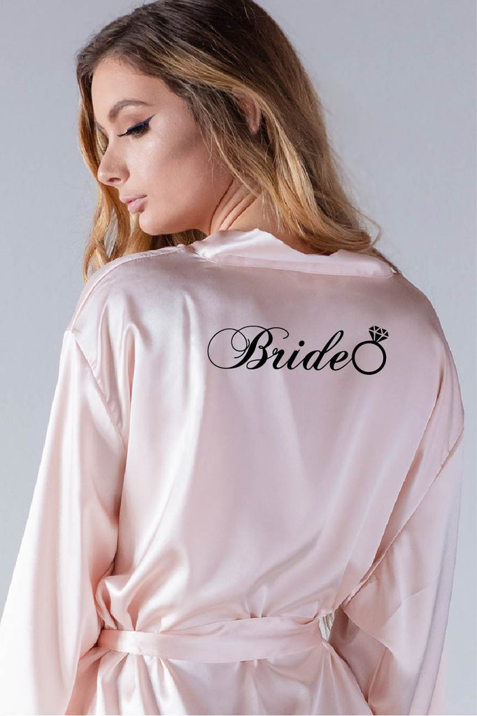 ring style bridal robe back view