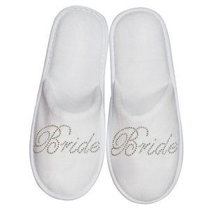 Bride Sequin Close Toed Slipper