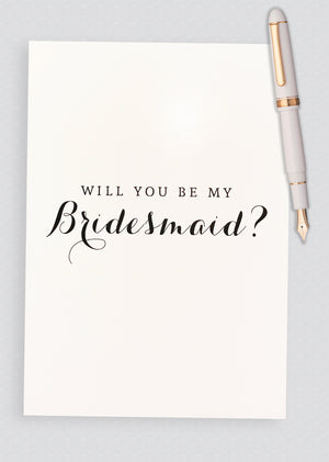 Will You Be My Bridesmaid? Proposal Card - B