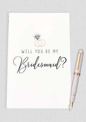 Will You Be My Bridesmaid? Proposal Card - A
