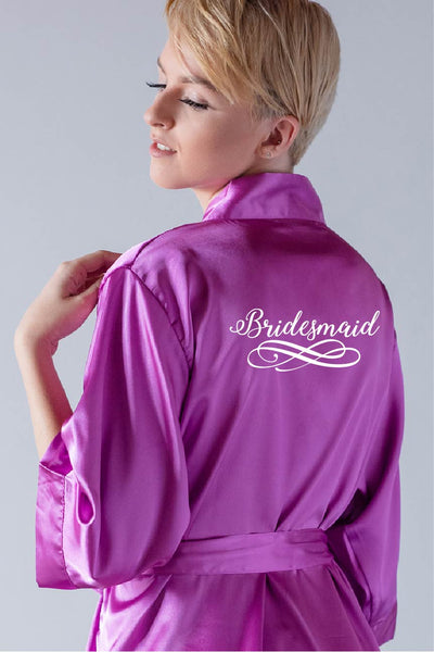 Swirly Style - Bridesmaid Robe